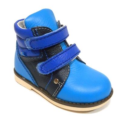 Обувь ортопедическая детская «Аюрведа 004» сине-черная