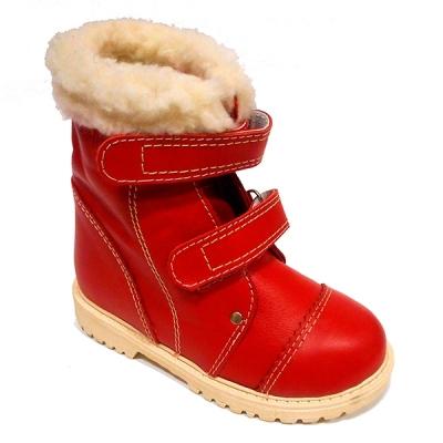 Детская ортопедическая обувь «Аюрведа 003» 14-17 см красная