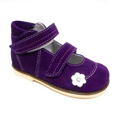 Обувь ортопедическая детская «Аюрведа 001/1» фиолетовая замшевая