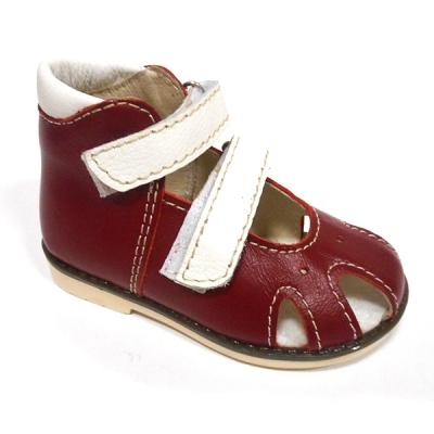 Обувь ортопедическая детская «Аюрведа 001» бело-бордовая