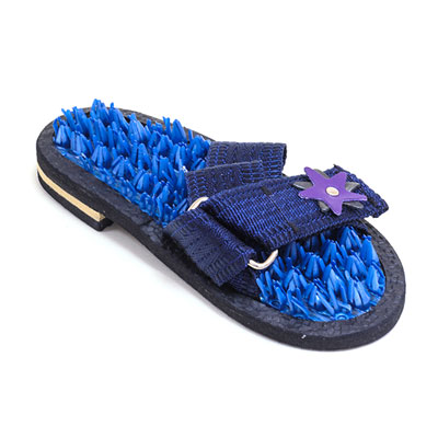 Массажеры-шлепанцы «Колючая травка» синие