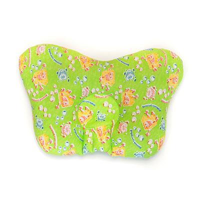 Ортопедическая подушка для новорожденных «Бабочка» зеленая