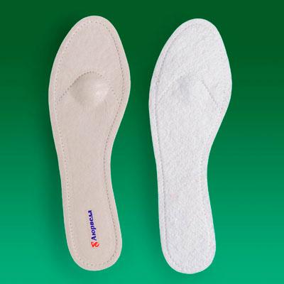 Стельки-супинаторы ортопедические поперечные кожаные