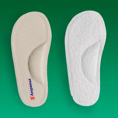 Стельки ортопедические продольные кожаные «Аюрведа»