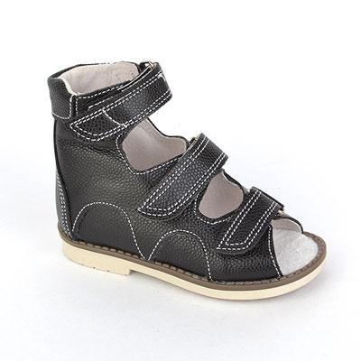 Детская ортопедическая обувь «Аюрведа 00-1» 18-22 см черная
