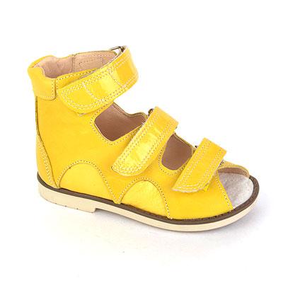 Детская ортопедическая обувь «Аюрведа 00-1» 18-22 см желтая