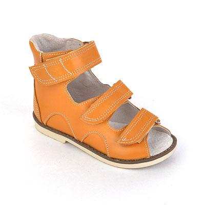 Детская ортопедическая обувь «Аюрведа 00-1» 18-22 см оранжевая