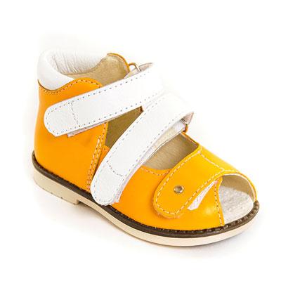 Детская ортопедическая обувь «Аюрведа 00-2» 13-17 см желтая