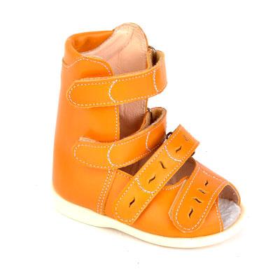 Детская ортопедическая обувь «Аюрведа 00-2/1» 13-17 см оранжевая