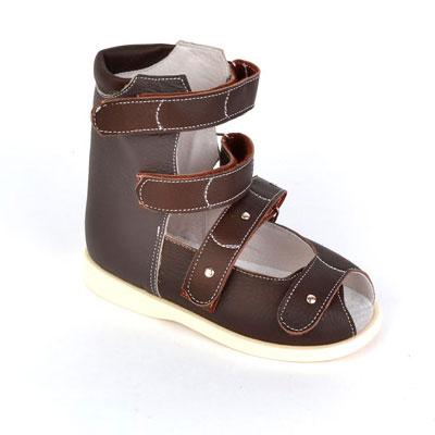 Детская ортопедическая обувь «Аюрведа 00-2/1» 18-22 см темно-коричневая
