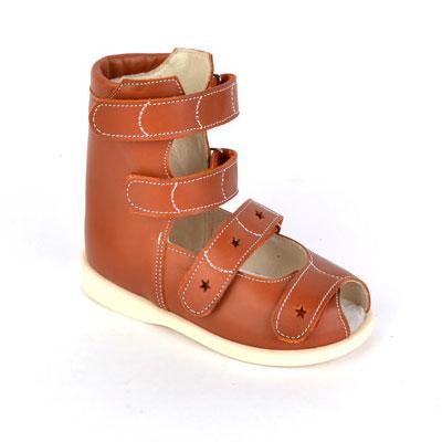 Детская ортопедическая обувь «Аюрведа 00-2/1» 18-22 см светло-коричневая