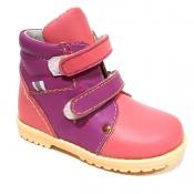 Обувь ортопедическая детская «Аюрведа 00-4» комбинированная розовая