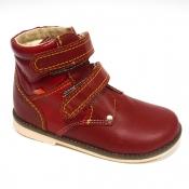Обувь ортопедическая детская «Аюрведа 004» бордово-красная