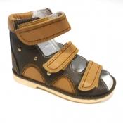Детская ортопедическая обувь «Аюрведа 00-1» 15-17 комбинированные коричневые
