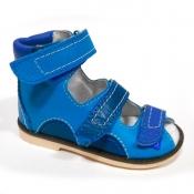 Детская ортопедическая обувь «Аюрведа 00-1» 18-22 см синяя комбинированная
