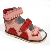 Детская ортопедическая обувь «Аюрведа 00-1» 15-17 см красно-розовые