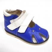 Обувь ортопедическая детская «Аюрведа 001» бело-синяя