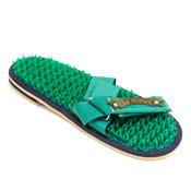 Массажеры-шлепанцы «Колючая травка» зелёные