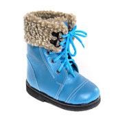 Детская ортопедическая обувь «Аюрведа 003» 18-22 см голубая