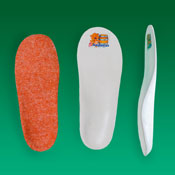 Стельки ортопедические плосковальгусные М2 с шерстью