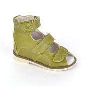 Детская ортопедическая обувь «Аюрведа 00-1» 18-22 см зеленая
