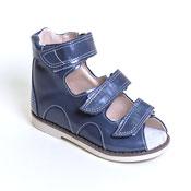 Детская ортопедическая обувь «Аюрведа 00-1» 15-17 см синяя