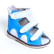 Детская ортопедическая обувь «Аюрведа 00-1» 15-17 см голубая