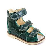 Детская ортопедическая обувь «Аюрведа 00-1» 15-17 см зеленая